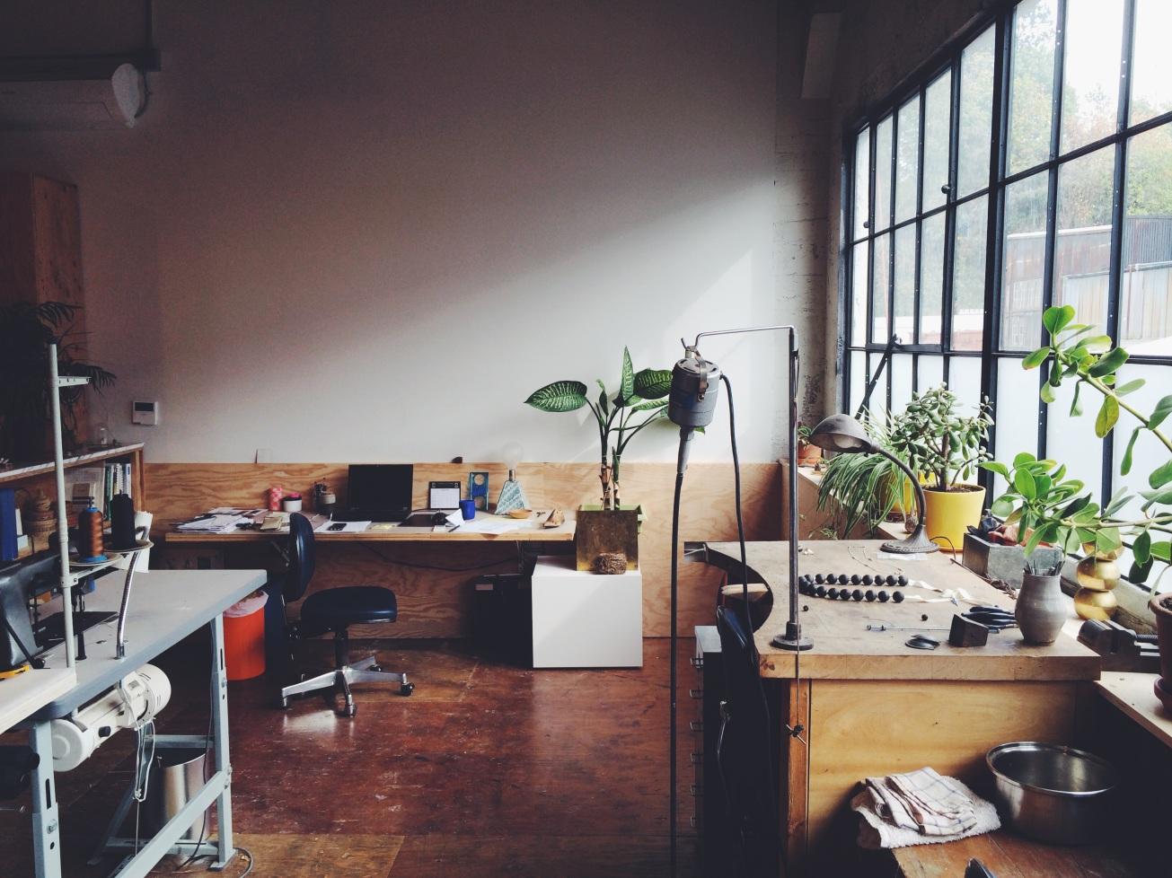 Sara Barner's studio