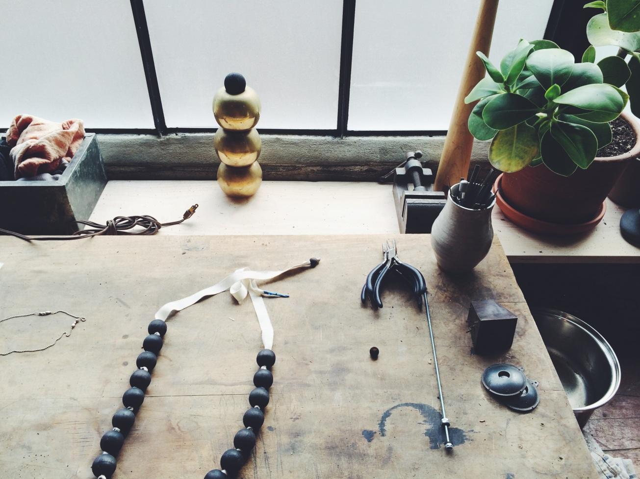 details in Sara Barner's studio
