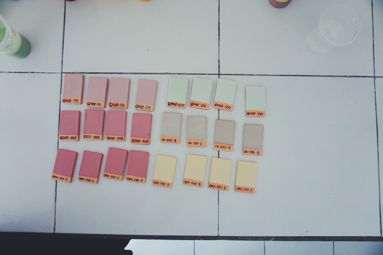 Glaze samples