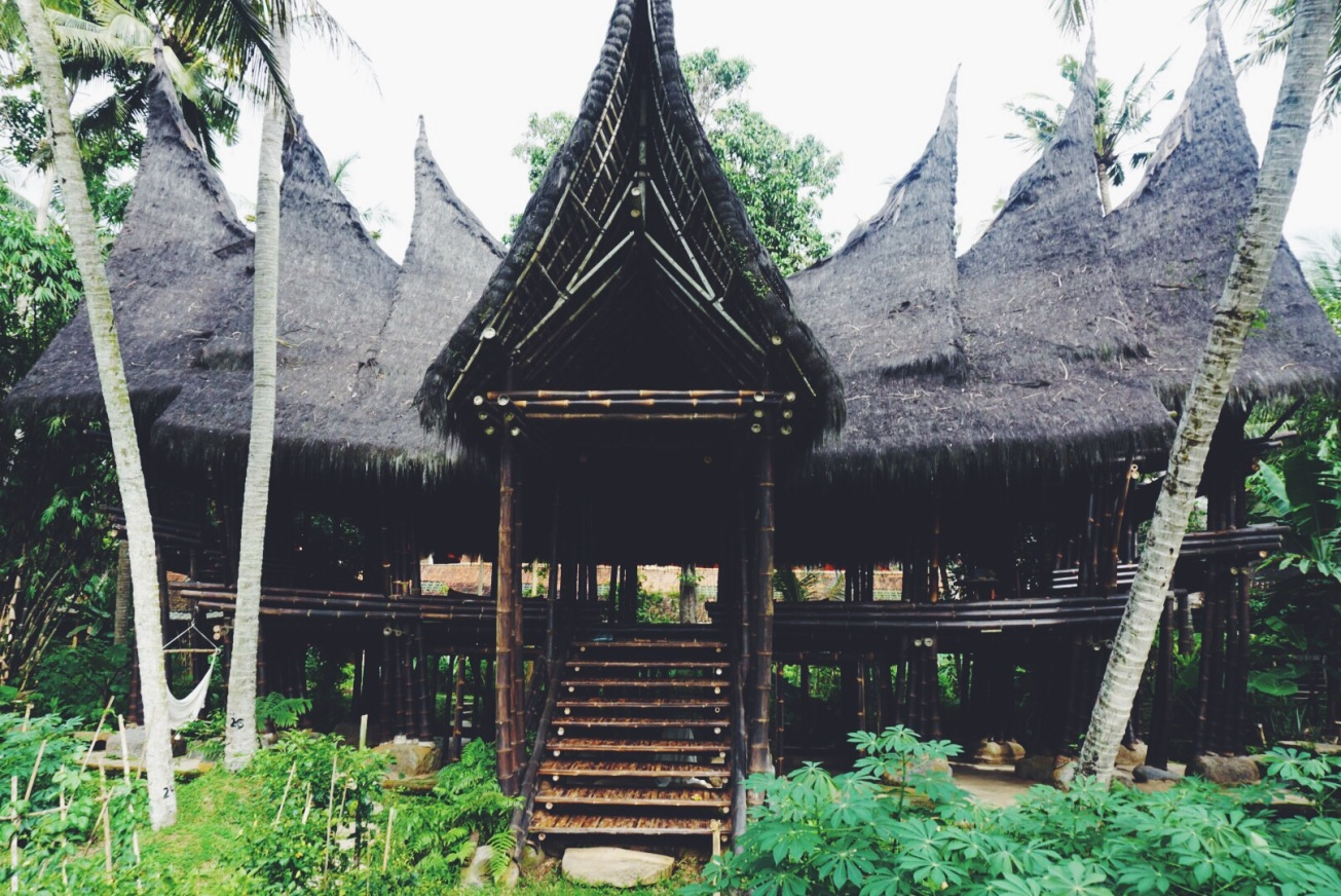 This building is made entirely of BLACK BAMBOO. Insane.