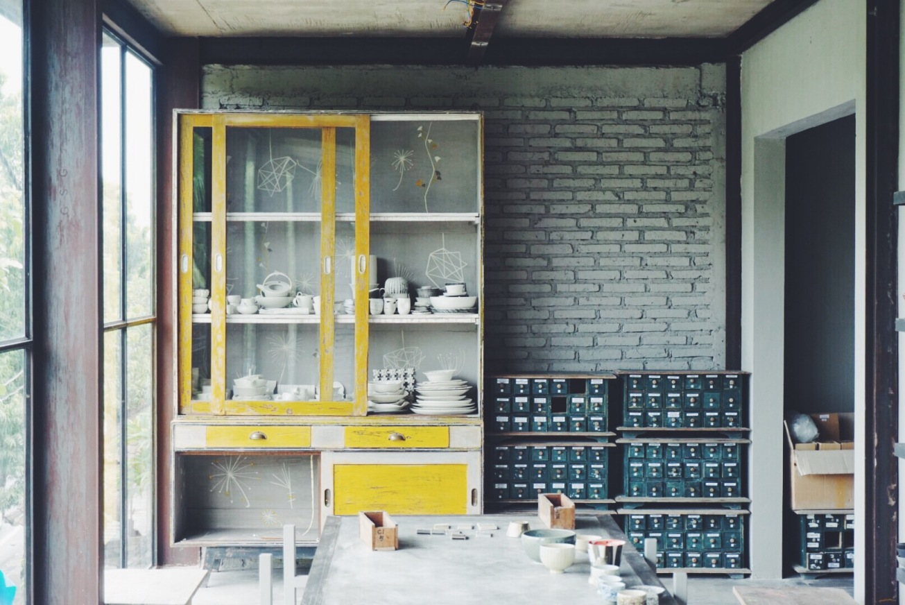 Inside the ceramics workshop where they catalog all the pieces they make for up to 5 years.