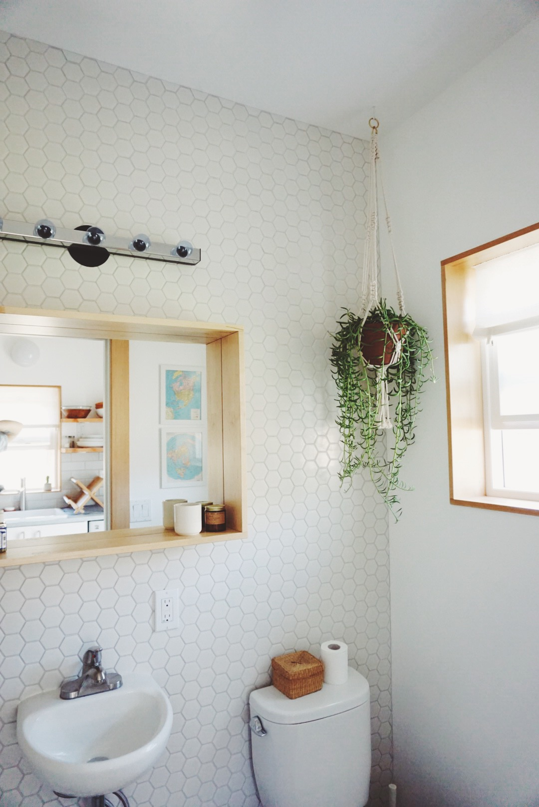 Macrame in the bathroom
