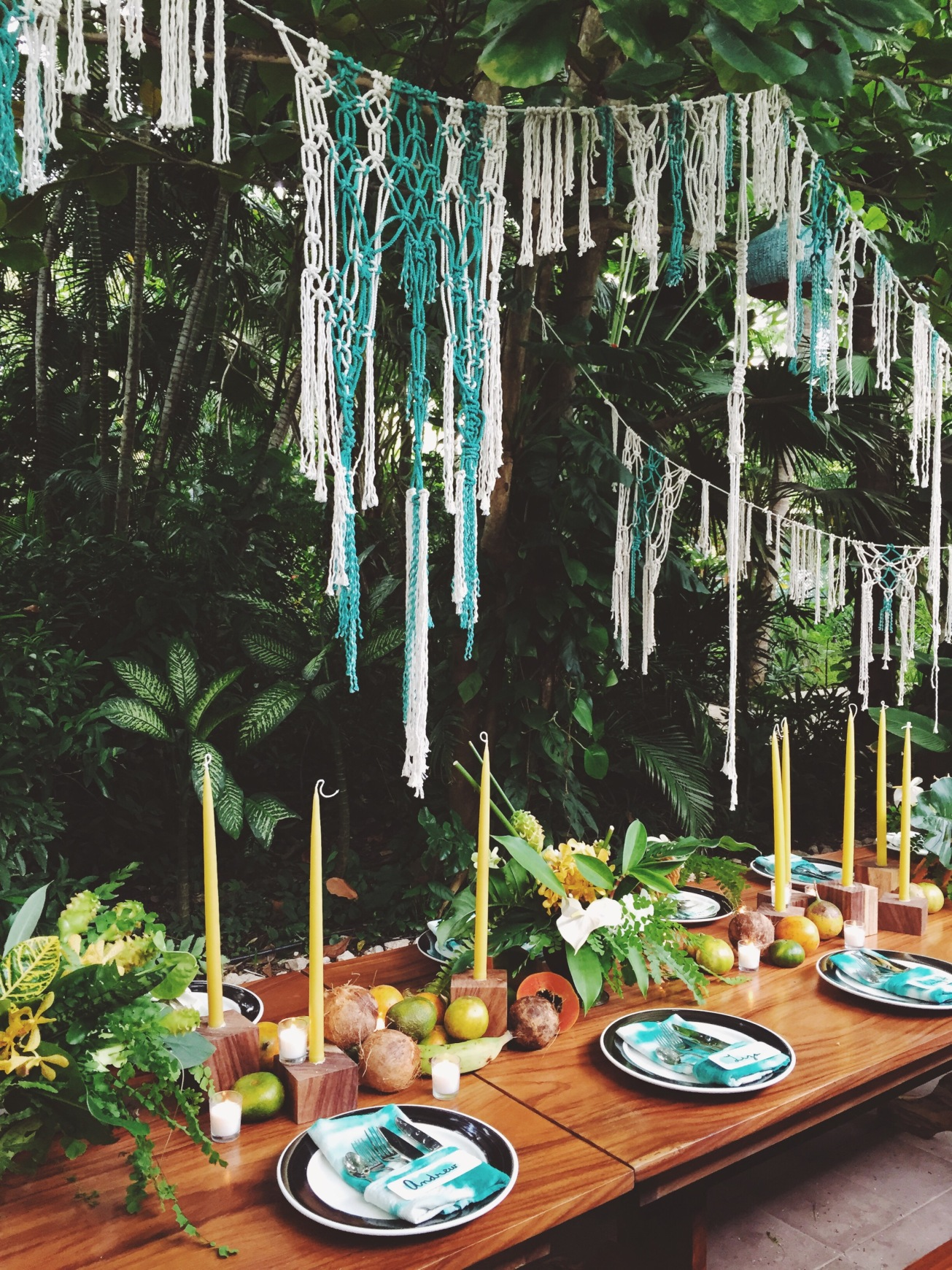 Macrame installation in Costa Rica